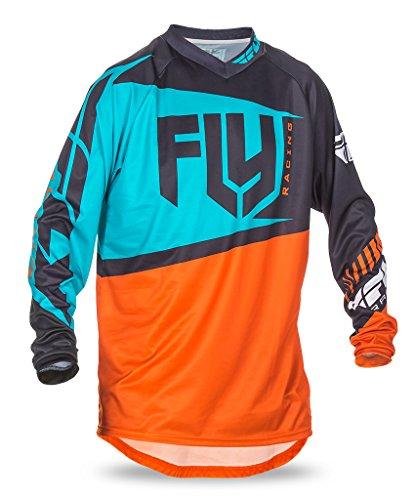 Erwachsenen-Trikot Fly 2017F-16 MX Motocross MTB Downhill orange/blaugrün Gr. Medium, Orange/Teal (Erwachsenen-trikots)