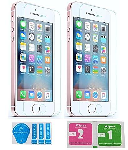 2x »Apple iPhone SE« Panzerglas Displayschutzfolie | Blasenfrei | Ultra-HD | Bruchsicher | Rytek Panzerglasfolie ►lebenslange Garantie