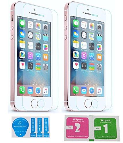2x »Apple iPhone SE / 5 / 5s / 5c« Panzerglas Displayschutzfolie | Blasenfrei | Ultra-HD | Bruchsicher | Rytek Panzerglasfolie ►lebenslange Garantie (5c-screen-ersatz)