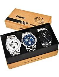 Espoir Analog Blue Dial Men's Watch-Combo 109 Bahubali