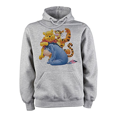 Winnie The Pooh Logo With Eeyore And Tigger XXL Unisex Hoodie (Eeyore Hoodie)