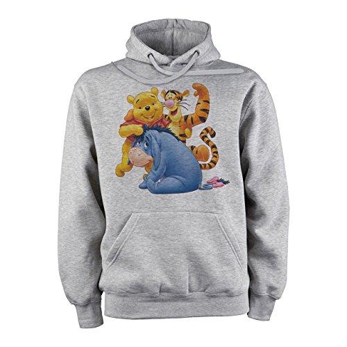 Winnie The Pooh Logo With Eeyore And Tigger XXL Unisex Hoodie (Eeyore Hoodie)