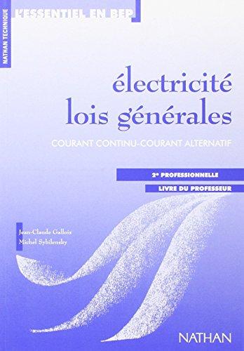 Electricité, 2de professionnelle. Livre du professeur