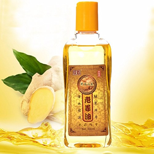 Greatlizard 100% Natural Pure Plant Body Massage Old Ginger Essential Oil 230ml Kneepad Thermal Body Ginger Essential Oil For Scrape Therapy SPA