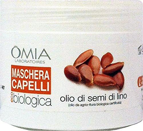 OMIA Maschera Capelli Biologica Olio Di Semi Di Lino 250 Ml