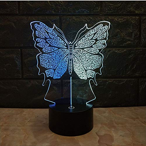 (3D LED Nachtlicht Heiße Kawaii 3D Lampe Schmetterling Usb Nachtlicht Mixcolor Kid Spielzeug Schlafzimmer Atmosphäre Lampe Familie Decor Urlaub Weihnachten Halloween Geschenk)