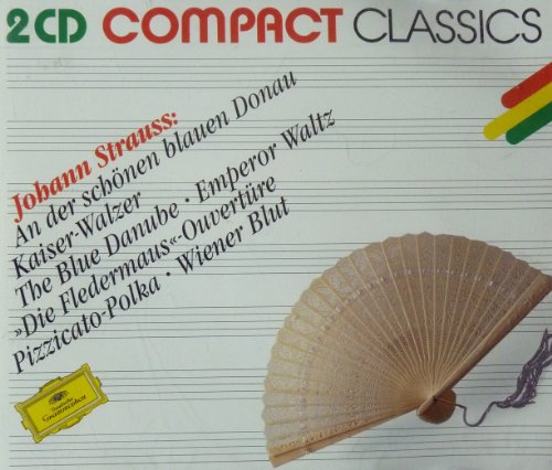 ann Strauss - THE BLUE DANUBE, EMPEROR WALTZ, CHIT-CHAT POLKA, HUNTING, TALES FROM THE VIENNA WOODS, THUNDER AND LIGHTNING, PIZZICATO POLKA, ROSES FROM THE SOUTH, VIENNA BLOOD, EGYPTIAN MARCH, ANNEN POLKA, MORNING PAPERS - KARAJAN, FRICSAY, BOHM, - 2CD / Deutsche Grammophon ()