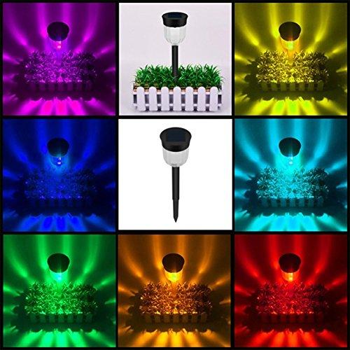 Pannello-solare-LED-Spike-Light-Spot-luce-impermeabile-per-Yard-Path-Lawn-Decor-Colore-nero