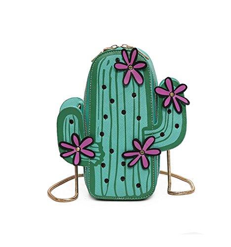 Santwo - Borsetta senza manici donna Green B(cactus)