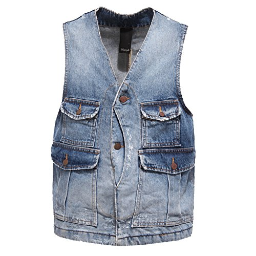 0347R giacca senza maniche PEOPLE jeans gilet uomo jacket men [50]