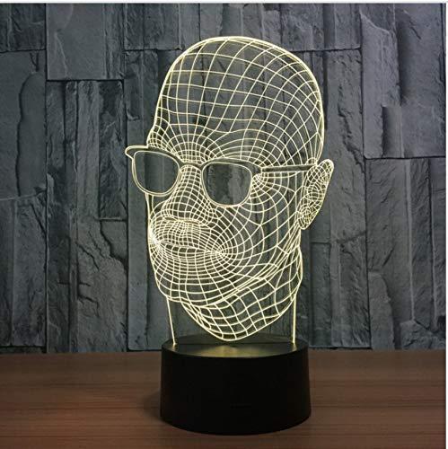 7 Farben Ändern Acryl Sonnenbrille Mann Modellierung 3D Nachtlicht Led Schreibtisch Tischlampe Usb Innendekor Schlaf Beleuchtung Geschenke