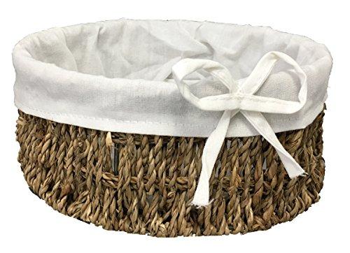 22cm petit panier à franges Seagrass panier maquillage, salle de bain et chambre organisateur. (Taille doublée petit)