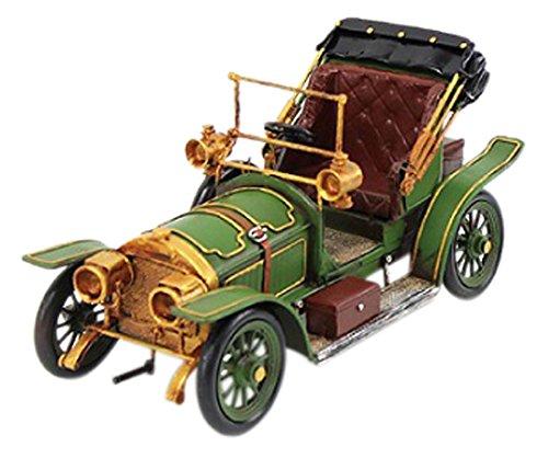 Lesser and Pavey 6 piezas Diseño de COCHE Vintage Coleccionable de Metal, verde/dorado