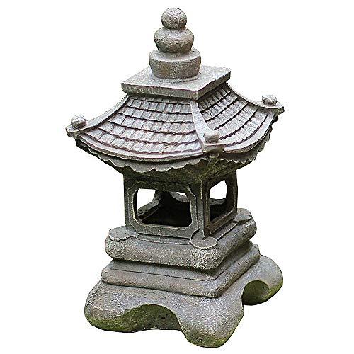 zenggp Le Jardin Solaire De Style Japonais Allume La Lumière De La Lanterne De La Pagode La Lampe De Jardin Solaire Statue