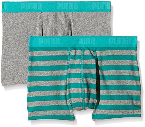 Puma Herren Boxershorts Stripe 1515 2er Pack Columbia Green