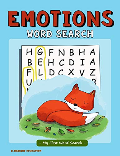 Emotions Word Search - My First Word Search: Word Search Puzzle for Kids Ages 4 - 6 Years