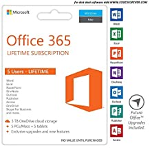 Office 365 Lifetime for Home 5 PC/MAC 5 Smartphones/Tabs 5TB Storage (Personalized username)