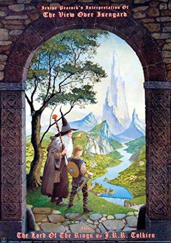 Il Signore Degli Anelli - La Vista Sul Isengard Da Irvine Peacock Poster Stampa (91 x 61cm)