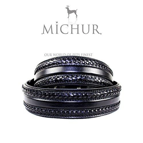 MICHUR MARIA SCHWARZ, Hundehalsband, Halsband Leder, Lederhalsband, SCHWARZ, in verschiedenen Größen erhältlich