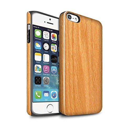 STUFF4 Glanz Harten Stoßfest Hülle / Case für Apple iPhone SE / Treibholz Muster / Holz/Holzmaserung Muster Kollektion Kiefer