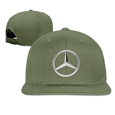Hittings MKCOOK Mercedes Benz Logo Flat Baseball Caps Hats For Unisex ForestGreen