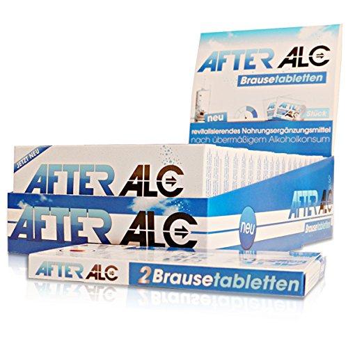 AfterAlc im stylischen Thekendisplay (20x2 Brausetabletten) | Revitalisierendes Nahrungsergänzungsmittel mit Mineralstoffen, Vitaminen und Koffein | Bekannt aus Ihrer Apotheke | Hergestellt in Deutschland