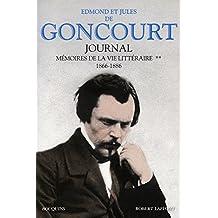 Journal : Memoire de la vie litteraire tome 2, 1866-1886