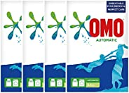 OMO Active Auto Laundry Detergent Powder, 2.5 Kg (Pack of 4)