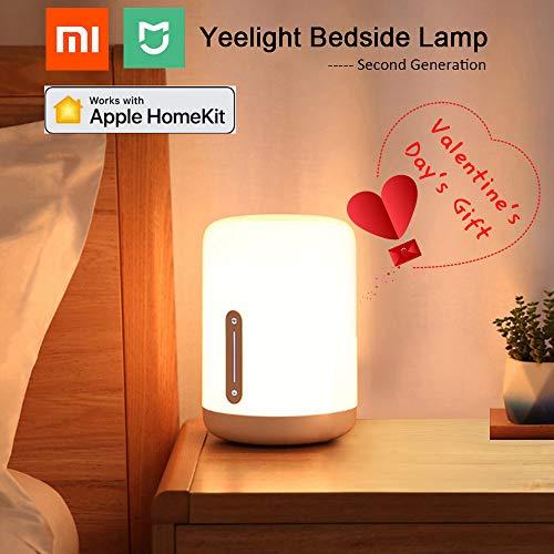Original Yeelight MIJIA Nachttischlampe, Wanfei 2nd Generation WIFI & Bluetooh Smart Nachtlicht mit Touch Multicolor-Schalter für Apple Homekit & Siri