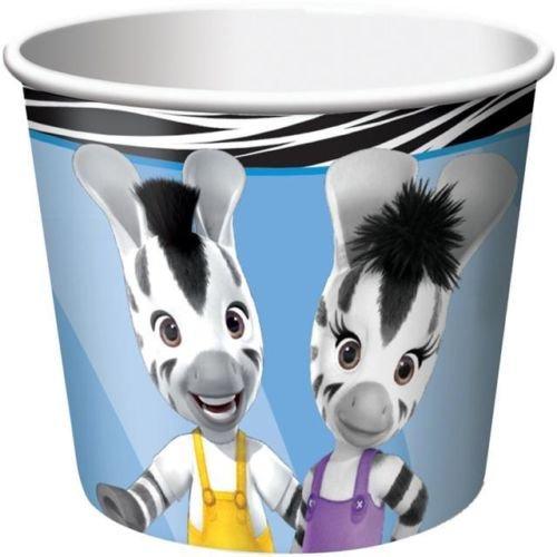 Zou no es del fabricante original de piel de cebra de papel de caramelos tazas/vasos para helado x 6