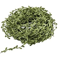 LULUNA 40m vides plantas artificiales cinta de hoja verde plantas de seda simulación guirnaldas DIY para decoración jardín boda fiesta navidad