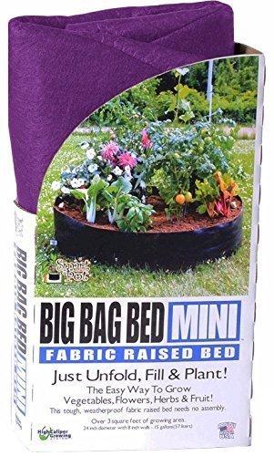 Smart Pot machen Fall Big Bag Stoff Hochbeet Weiche Seiten Behälter zersetzung Pflanzgefäß Garten Töpfe (Mini 61x 20,3cm), Violett