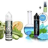 E Liquide Rings Green Smoothie 50ml - 70vg 30pg + Liquide Vampire Vape Heisenberg 50ml - 80vg 20pg - Sans nicotine + Liquide The Boat 10ml Citron et citron vert - Sans nicotine et sans tabac.