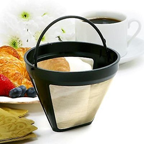 Filterbehälter, 12Shage Wiederverwendbarer Kegel-Kaffeefilter-dauerhafte Waschbare...