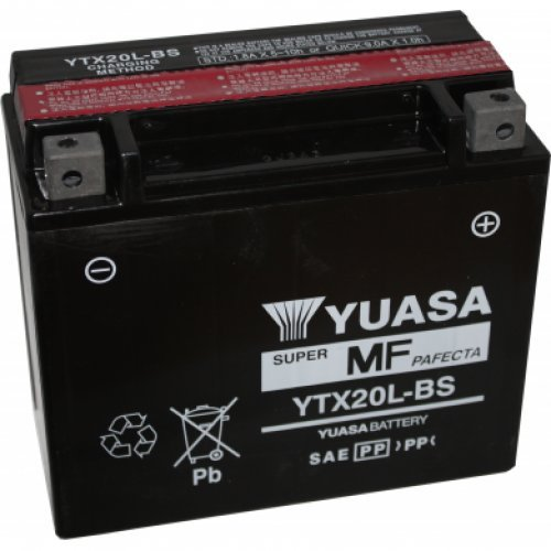 NX - Batteria moto YTX20L-BS/ WPX20LBS 12V 20Ah
