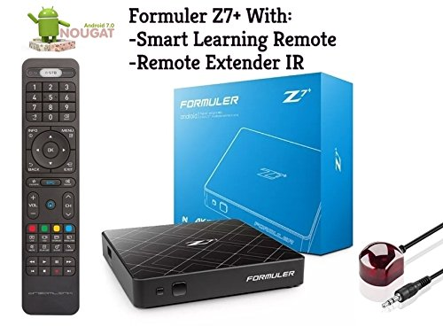 Formuler Z7+ Android Nougat 7.1 WiFi con Smart Learning Remote y Extensor Remoto IR
