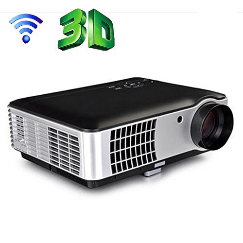 PLAYTM 5000 lumens Android Full HD Smart WI-FI, HDMI, USB Portable 1920 x 1080P Home Theater 3D LED Projector with TV tuner