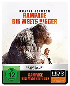 Rampage: Big Meets Bigger 4K Ultra HD Steelbook [Blu-ray] [Limited Edition]