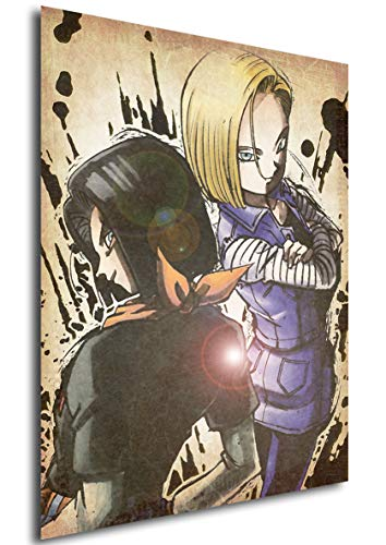 """Poster Dragon Ball """"Wanted"""" C-17 & C-18 - A3 (42x30 cm)"""