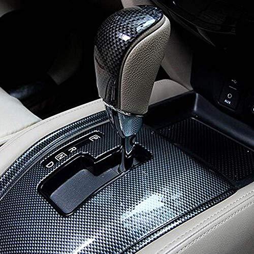 Aoile Schaltknauf für Nissan X-Trail Rogue T32, Mittelkonsole, Schalthebelabdeckung, ABS, Carbonfaser-Muster mattes Silber -