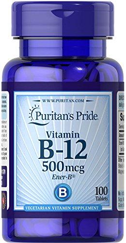 Vitamin B-12 500 mcg 100 Tabletten. B12. Puritan Pride 1 und.
