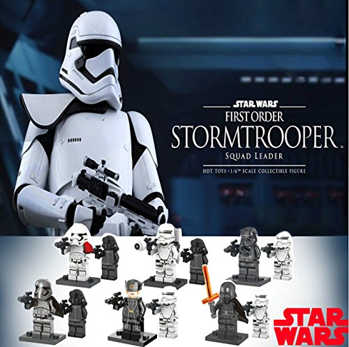 12Pcs Star Wars 7 Minifigures The Force Awakens Kylo Ren Captain Phasma Building Blocks Set Figures Bricks Toys