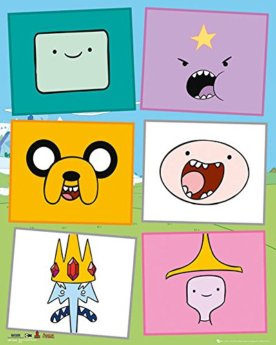 empireposter - Adventure Time - Faces  - Größe (cm), ca. 40x50 - Mini-Poster, NEU -