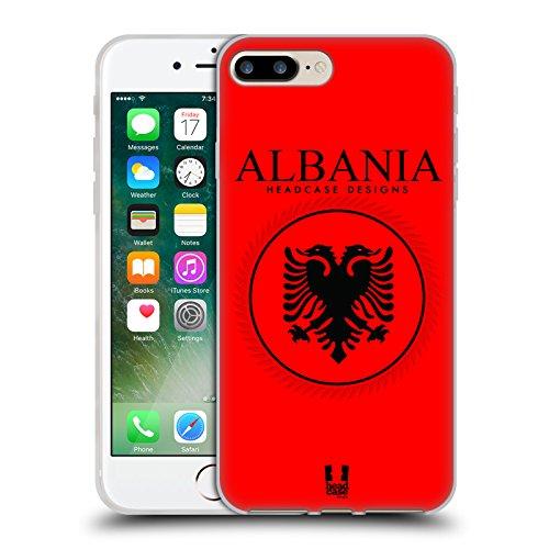 Head Case Designs Bandiera Albanese Bandiere E Toppe Cover Morbida In Gel Per Apple iPhone 7 / iPhone 8 Bandiera Albanese