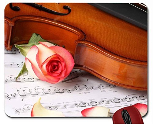 violin-and-rose-mouse-pad-computer-mousepad