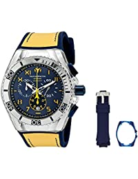 Technomarine Men's Quartz Watch with Blue Dial Chronograph Display and Blue Silicone Strap TM-115070