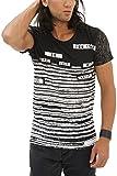 trueprodigy Casual Hombre Marca Camiseta Estampado Ropa Retro Vintage Rock Vestir Moda Cuello Redondo Manga Corta Slim Fit Designer Cool Urban Fashion T-Shirt Color Negro...