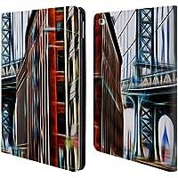 Ufficiale Haroulita New York Brooklyn Bridge Luoghi 2 Cover a portafoglio in pelle per Apple iPad Air 2