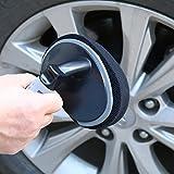 Bolange Ruota in gomma spugna curvata lucida per pneumatici, accessori per la pulizia dell'auto con spugna per lucidatura