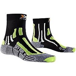 X-Socks Funktionssocken Sky Run Two - Calcetines, color negro (black/green lime/moulinè), talla 42/44